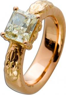 Solitär Ring Rosegold 750 Edelstein Radiant NFLYE/VS2 2, 20ct GIA