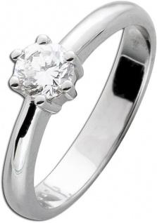 Diamant Brillant Verlobungsring Weißgold 585 Brillant 0, 55ct River E