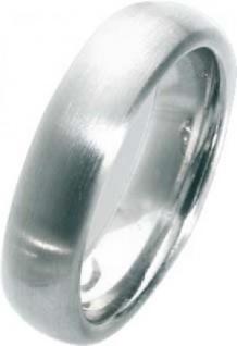 Trauring in Weißgold 585/-, Breite 6, 0mm, Stärke 2, 5mm, der Ring ist