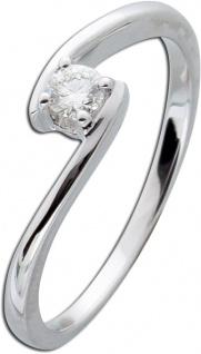 Diamantring Weißgold 585 Verlobungsring Diamant Brillant Ring