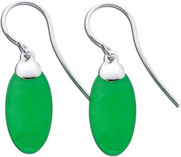 Jade Ohrringe Ohrhänger Silber 925 grüne Jade grüner Edelstein