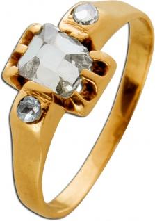 Antiker Diamantring Gelb Gold 333 rechteckiger Diamant 0, 50ct