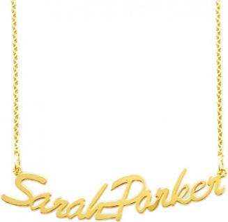Namenskette Gold 585 Schmuck Gold bis zu 15 Buchstaben