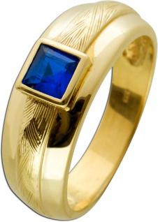 Antiker Spinell Ring Gelbgold 333 Poliert Edelstein Dunkelblau Um 1950