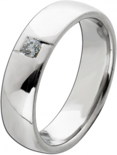 Solitärring Gelbgold 750 Diamant Brillant 0, 06ct TW/SI Gr. 16, 2mm