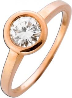 Solitär Ring Diamant Roségold 585 Verlobungsring Brillant 0, 66ct TW