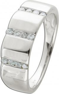 Moderner Ring Weissgold 375/- 9kt kanalgefassten Brillanten je 0, 01ct