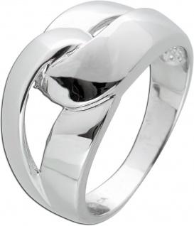 Knoten Ring Silber 925 geflochtenen Design Damenschmuck