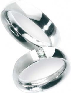 Trauring in Weißgold 750/-, Breite 5, 5 mm, Stärke 2, 6 mm, der Ring