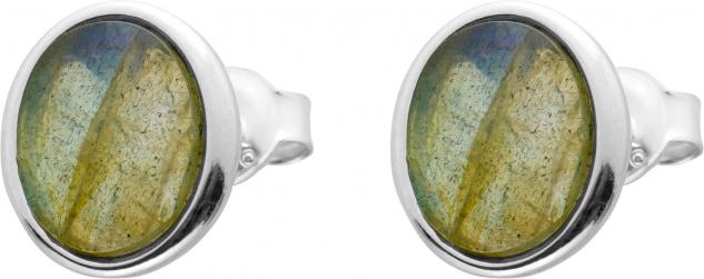 Ohrstecker Edelstein Ohrringe Ohrschmuck Silber 925 Labradorit