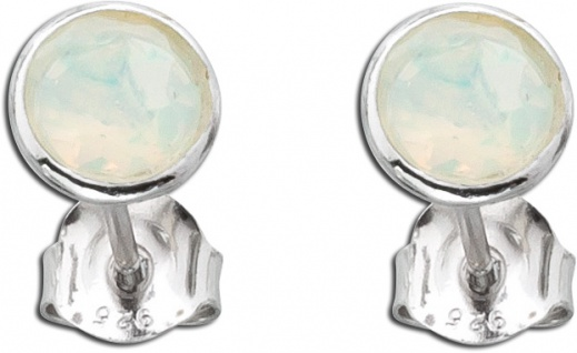Opal Ohrstecker Ohrringe Silber 925 äthiopisch