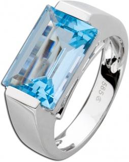 Ring Weißgold 585 hellblauer Blautopas