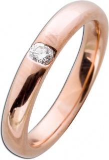 Brillantring Rosegold 585 Diamant Ring 0, 15ct W/SI Brillant Gold