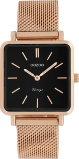 OOZOO Uhren C9848 rosegold Edelstahl Milanaise Armband Metallgehäuse