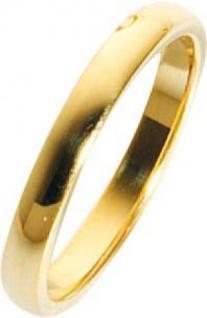 Trauring in Gelbgold hochglanzpoliert 585/ 14 karat Breite 3mm,