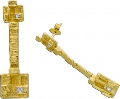Ohrringe Lapponia original Gelbgold 750 Design by Björn Weckström