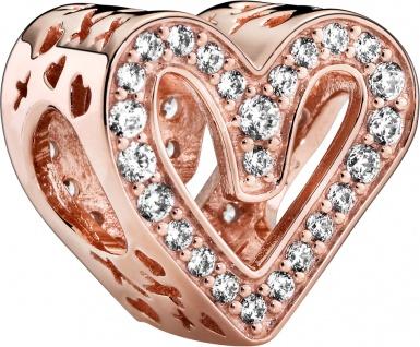 Pandora Charm 788692C01 Rose Sparkling Freehand Heart klare Zirkonia