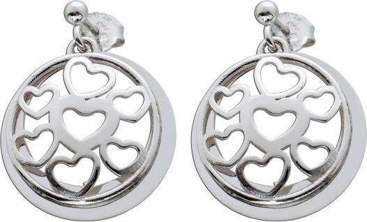 Bewegliche Ohrstecker Herz Ohrringe Silber 925