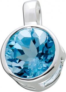 Blautopas Edelsteinanhänger Sterling Silber 925