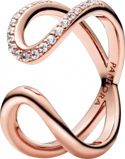Pandora Timeless Ring 188882C01 Wrapped Open Infinity Rose Klare