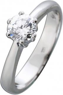 Diamantring 0, 74ct River D/VS Verlobungsring Weißgold 585 Brillant