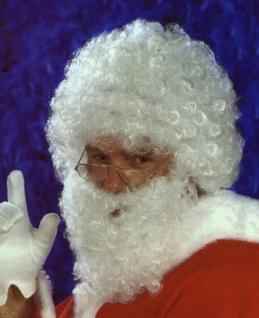 811443 Santa Claus Perücke mit Bart, kurz gelockte H