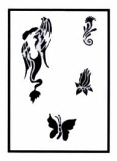 es456019 Tattooschablone Siren - Vorschau 1