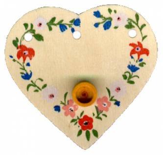 7021 Geburtstags Herz aus Holz, naturfarben, bunt bemalt, ca. 10 c