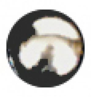 6494 glatter Knopf, kugelrund, 13mm Ø, aus silberfarbene