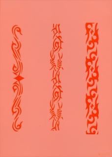 es456088 Tattooschablone Stripes V - Vorschau 2
