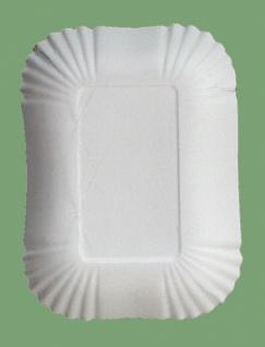 75045 10 Stück Große viereckige Pappschalen, 13x18x3 cm groß