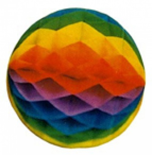 71712 Waben Ball, ca. 80cm Durchmesser, gewellter Rand, regenbo