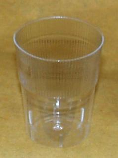 751802 10 Stück Schnapsgläser aus glasklarem Plastik, mit Eichstrich