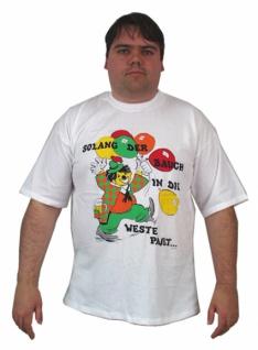 58631 Weißes T Shirt, 100 % Baumwolle, mit 1/4 Arm, mit Aufdruck: Bu