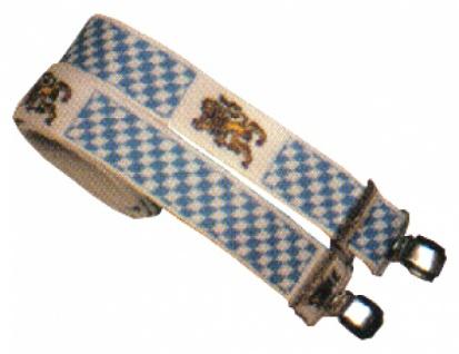 5907 Breiter Hosenträger mit Bayern Rauten und Wappenlöwe...