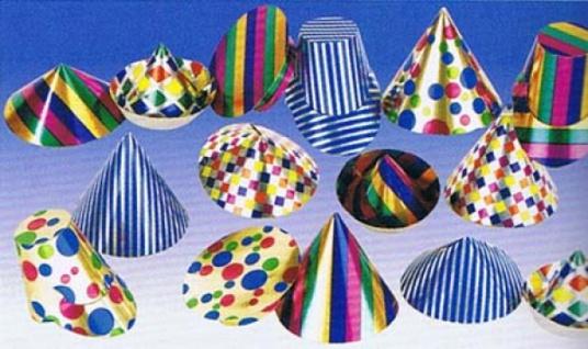 1607 Miniatur Party Hütchen, sortiert...