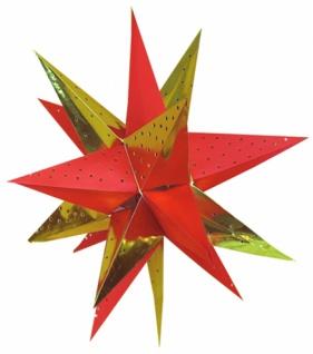 821921 Weihnachtsstern aus Pappe, 18 strahlig, für Beleuchtung bis 2 - Vorschau