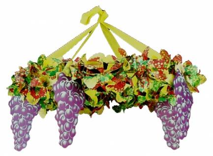 7207 Weintrauben Kranz mit 70 cm Ø, aus flammenresistentem Pa - Vorschau