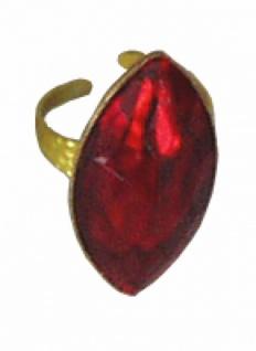 1300 goldene Fingerringe aus Plastik mit verschiedenen roten Steinen, Oval 23x45mm groß oder Rund