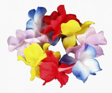 23692 Hawaii Arm oder Fußband aus bunten Stoff Blumen, sehr dicht...