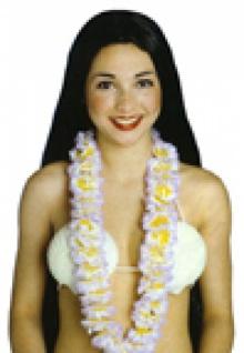 """2370 Hawaiikette"""" De Luxe"""", 90cm lang, in weiß mit hellblau, rosa, lila o"""