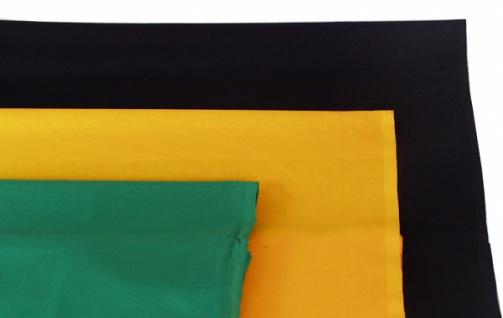 1488 Fahnenstoff, 80cm breit, in schwarz, rot, ockergelb, blau u