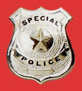 """6459 """" Special Police"""" Sheriffstern aus glänzendem Metall"""