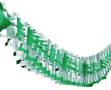 72345 Grün/weiße Baum Girlande (Tanne), 4m lang, 20x29cm stark,