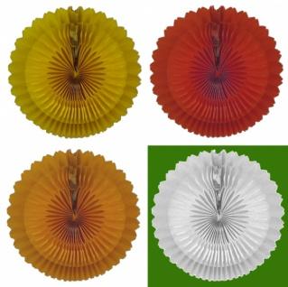 7199 Blumen Rosette, ca. 42cm Ø, einfarbig, flammensicher - Vorschau