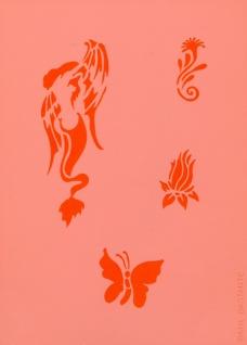 es456019 Tattooschablone Siren - Vorschau 2