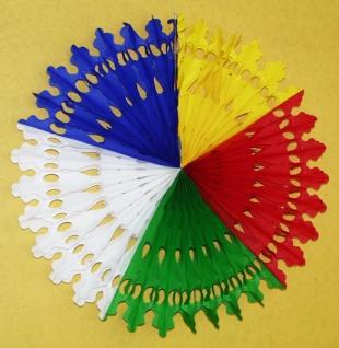72020 Fächer mit ca. 63cm Durchmesser, in fünffarbig (bunt), dreifar