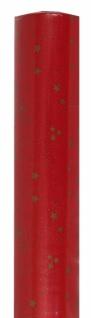 81760 rotes Moire softline Tischtuch, 1, 20m breit, 25m Rolle, mit&nb