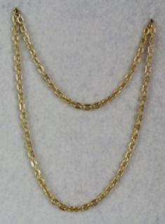 1282 Ordenskette mit großen Gliedern (6mm breit), in gold und silberfarben, 36cm lang...