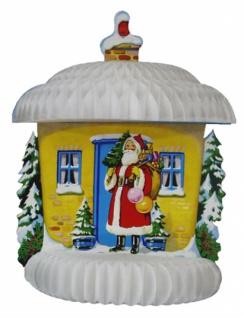 8258 Wabenkarten Dekoration mit 3D Effekt: Schneehaus mit Weihnach